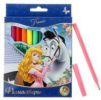 """Фломастеры """"Disney. Принцессы"""" (12 цветов)"""