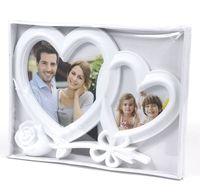 """Рамка пластмассовая """"Сердце с розой"""" на 2 фото (10х10 см, 10х15 см; арт. 10989623)"""