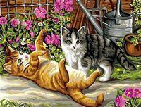 """Картина по номерам """"Игривые котята"""" (300х400 мм)"""