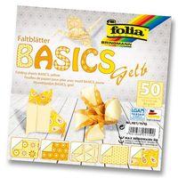 Бумага желтая для оригами (150х150 мм; 50 листов)