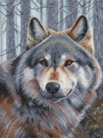 "Вышивка крестом ""Волк"" (270х365 мм)"