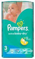 "Подгузники ""Pampers Active Baby-Dry Midi"" (5-9 кг, 22 шт, арт. 1657)"