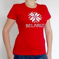 """Футболка женская """"Belarus"""" (S; красная)"""