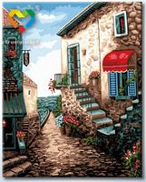 "Картина по номерам ""Приморский городок"" (400х500 мм; арт. HB4050269)"