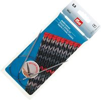 Спицы круговые для вязания (латунь; 2,5 мм; 40 см)