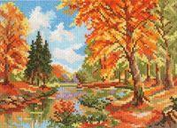 "Вышивка крестом ""Сентябрь в лесу"" (220х160 мм)"