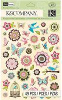 """Стикеры для скрапбукинга """"Цветение. Цветы и бабочки"""""""