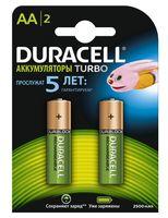 Аккумуляторы никель-металлгидридные Duracell AA HR06 2500mAh (2 шт)