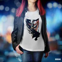 "Футболка женская ""Бэтмен и Джокер"" L (арт. 046)"