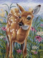 """Вышивка крестом """"В цветении дивных трав"""" (400х300 мм)"""