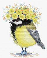 """Вышивка крестом """"Солнечная пташка"""" (180х150 мм)"""