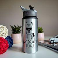 "Бутылка для воды ""LLama drama"" (600 мл; металлик)"