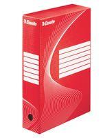 Коробка картонная архивная Esselte (красная, 80 мм)