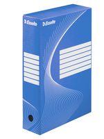 Коробка картонная архивная Esselte (синяя, 80 мм)