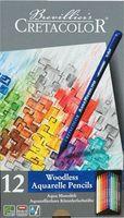 """Набор карандашей цветных акварельных """"Aqua Monolith"""" (12 цветов; в лаке без дерева)"""