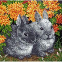 """Канва с нанесенным рисунком """"Кролики"""""""