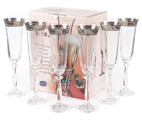 """Бокал для шампанского стеклянный """"Angela"""" (6 шт.; 190 мл; арт. 40600/378805/190)"""