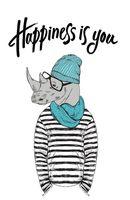 "Блокнот ""Happiness is you"" (А5; мягкая обложка)"