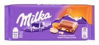 """Шоколад молочный """"Milka. Peanut & Crispy Caramel"""" (90 г)"""