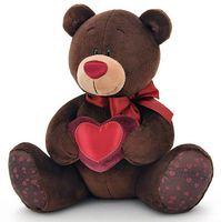 """Мягкая игрушка """"Медведь Choco с сердцем"""" (25 см)"""