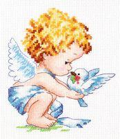 """Вышивка крестом """"Светлый Ангел!"""" (120x140 мм)"""