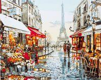 """Картина по номерам """"Люблю тебя! Париж!"""" (400х500 мм)"""