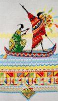 "Вышивка крестом ""Африка. Масаи. Рыбаки"""