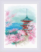 "Вышивка крестом ""Сакура. Пагода"" (180х240 мм)"