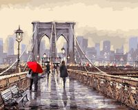 "Картина по номерам ""Мост во время дождя"" (400х500 мм)"
