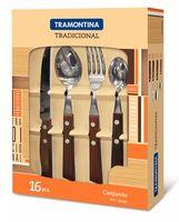 Набор столовых приборов металлических с деревянными ручками (16 предметов; арт. 22299049)