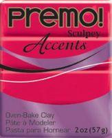 """Глина полимерная """"Premo! Accents"""" (красный полупрозрачный, 57 г)"""