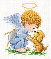 "Вышивка крестом ""Мой добрый Ангел!"" (130x140 мм)"