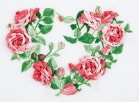 """Набор для вышивания """"Сердце из роз"""""""