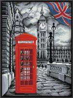 """Алмазная вышивка-мозаика """"В Лондоне"""" (300х400 мм)"""