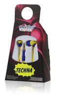 Наушники SmartBuy TECHNA, плоский кабель, SBE-7220 (желтый/синие)