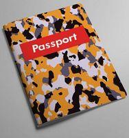 "Обложка на паспорт ""Суприм"" (желтая)"