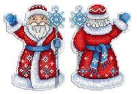 """Вышивка крестом """"Дедушка Мороз"""" (130x100 мм)"""