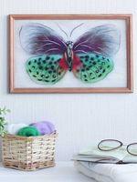 """Картина из шерсти """"Бабочка Баттерфляй"""" (200х300 мм)"""