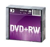 Диск DVD+RW 4.7Gb 4x Data Standard slim (10 штук)