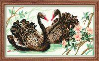 """Вышивка крестом """"Черные лебеди"""" (арт. 806)"""
