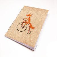 """Блокнот крафт """"Лиса на велосипеде"""" А5 (арт. 794)"""