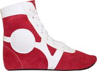 Обувь для самбо SM-0101 (р.33; замша; красная)