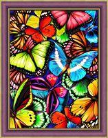 "Алмазная вышивка-мозаика ""Яркие бабочки"" (300х400 мм)"