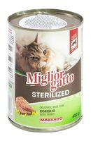 """Консервы для стерилизованных кошек """"Gatto"""" (400 г; кролик)"""