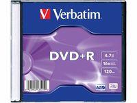 Диск DVD+R 4.7Gb 16x Verbatim slim (в упаковке 10 штук)