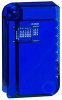 """Записная книжка (с ручкой, """"вечным"""" календарем, линейкой и лупой, синяя)"""