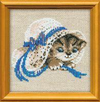 """Вышивка крестом """"Котенок в шляпе"""" (арт. 748)"""