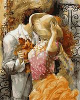 """Картина по номерам """"Осенний поцелуй"""" (400х500 мм)"""