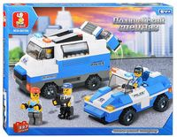 """Конструктор """"Автомобили для перевозки и сопровождения нарушителей"""" (337 деталей)"""
