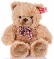 """Мягкая игрушка """"Медведь с клетчатым бантом"""" (35 см)"""